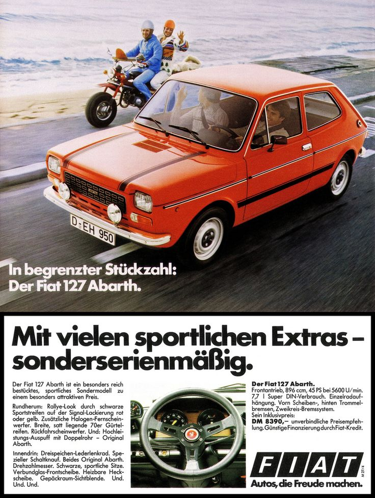 1977 Fiat 127 Abarth Ad