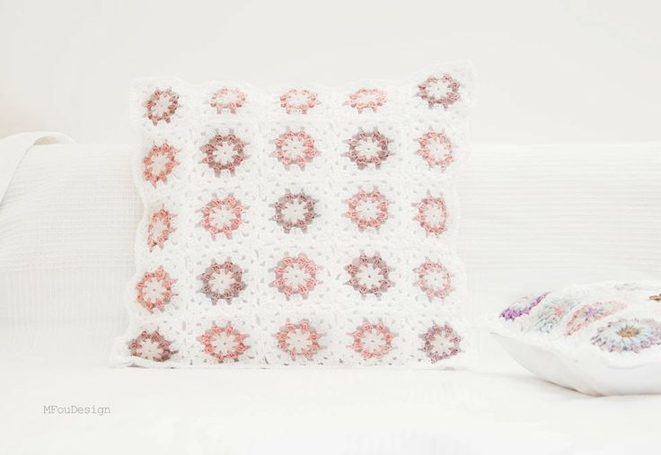 crochet spring pillow case / szydełkowa poszewka na poduszkę ~ MFOUDESIGN - HANDMADE by Magda Fou