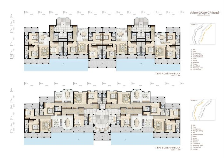 "Village Type-2 (Baroque Style), ""DAEMYUNG LUCEEN RESORT : Culture Theme Resort CG Plan / ""대명 루첸 리조트"" 빌리지 타입2. 평면도"