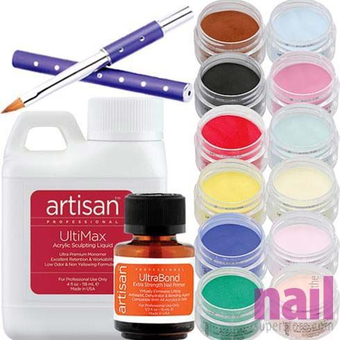 Artisan Acrylic Nail Kit | 12 Best Selling Color Powders