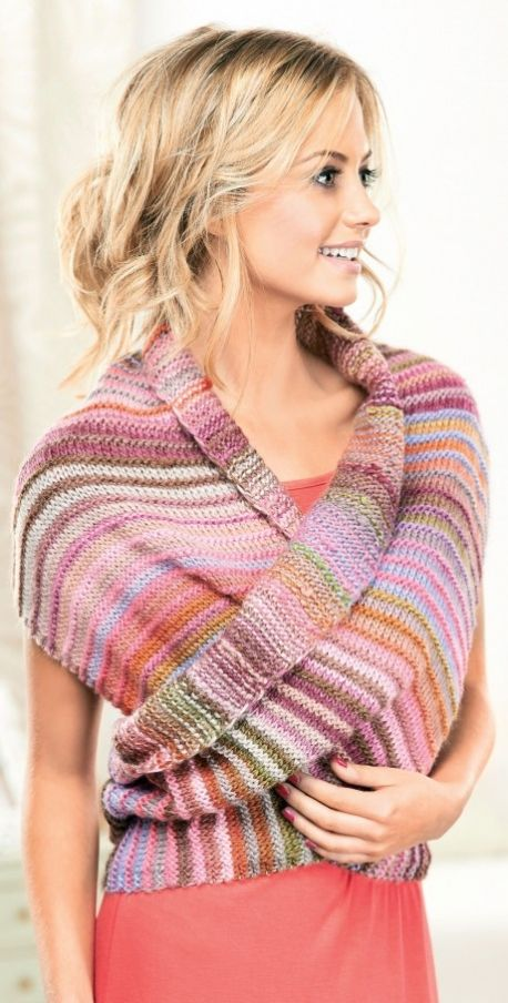 Multiway Wrap - free pattern @ Let's Knit (need to register)
