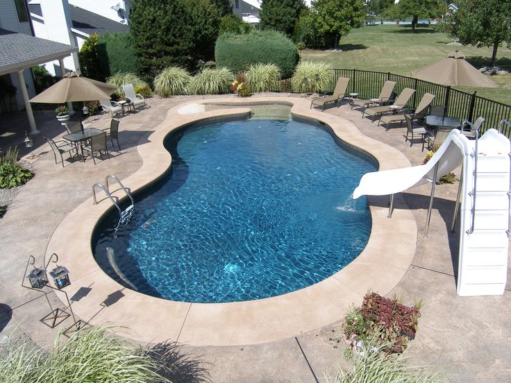 30 best images about gunite swimming pools on pinterest for Garden oases pool entrance