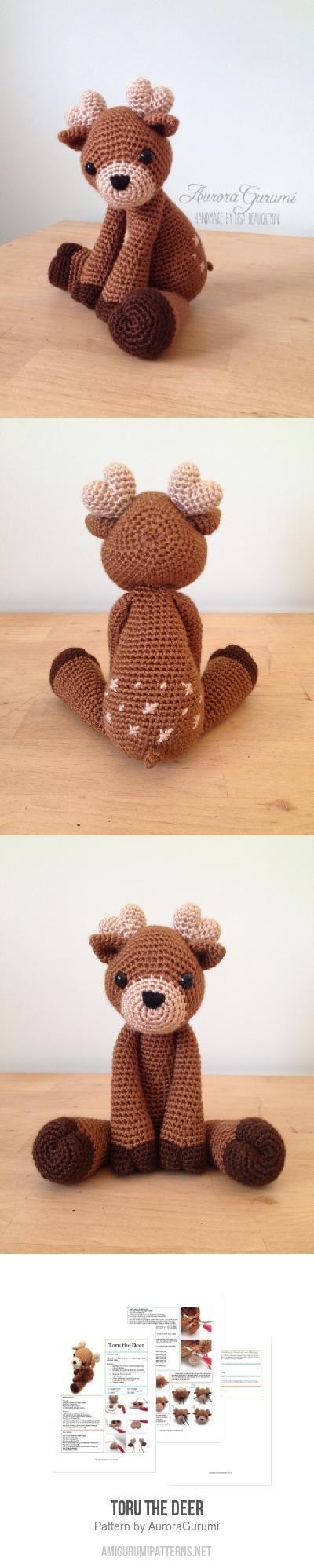 Toru the Deer amigurumi pattern