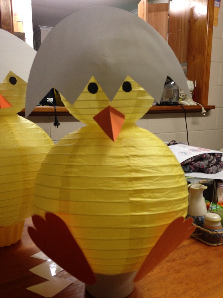 Pinterest inspired chicks for my child care centre Easter display