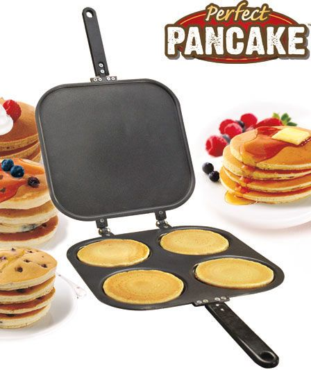 Make the Perfect Pancake with this simple to use pan. Simply pour in the mix and flip!
