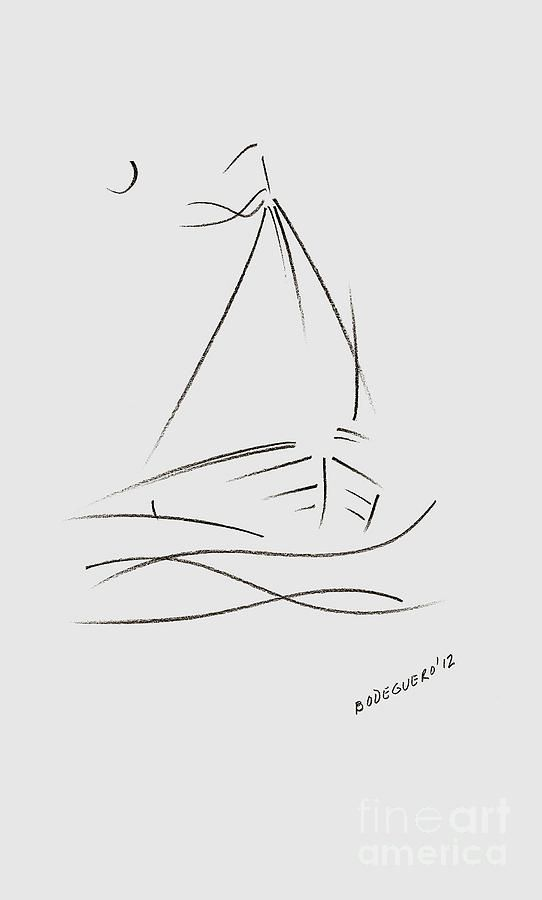 Simple Sailboat Drawing Drawing