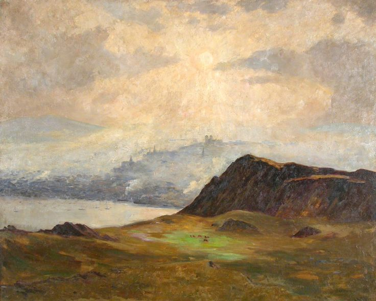 "Maurice Cullen. ""A Misty Afternoon, St. John's, Newfoundland."" (1910), oil on canvas. 122.5 cm x 153.25. The Rooms Provincial Art Gallery Collection, Gift of the National Art Gallery of Canada - Newfoundland and Labrador - Wikipedia"