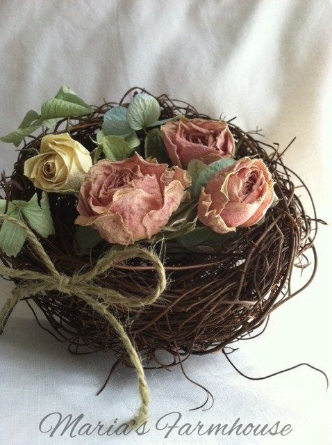 mariasfarmhouse:  Hand Made Bird's Nest by Maria