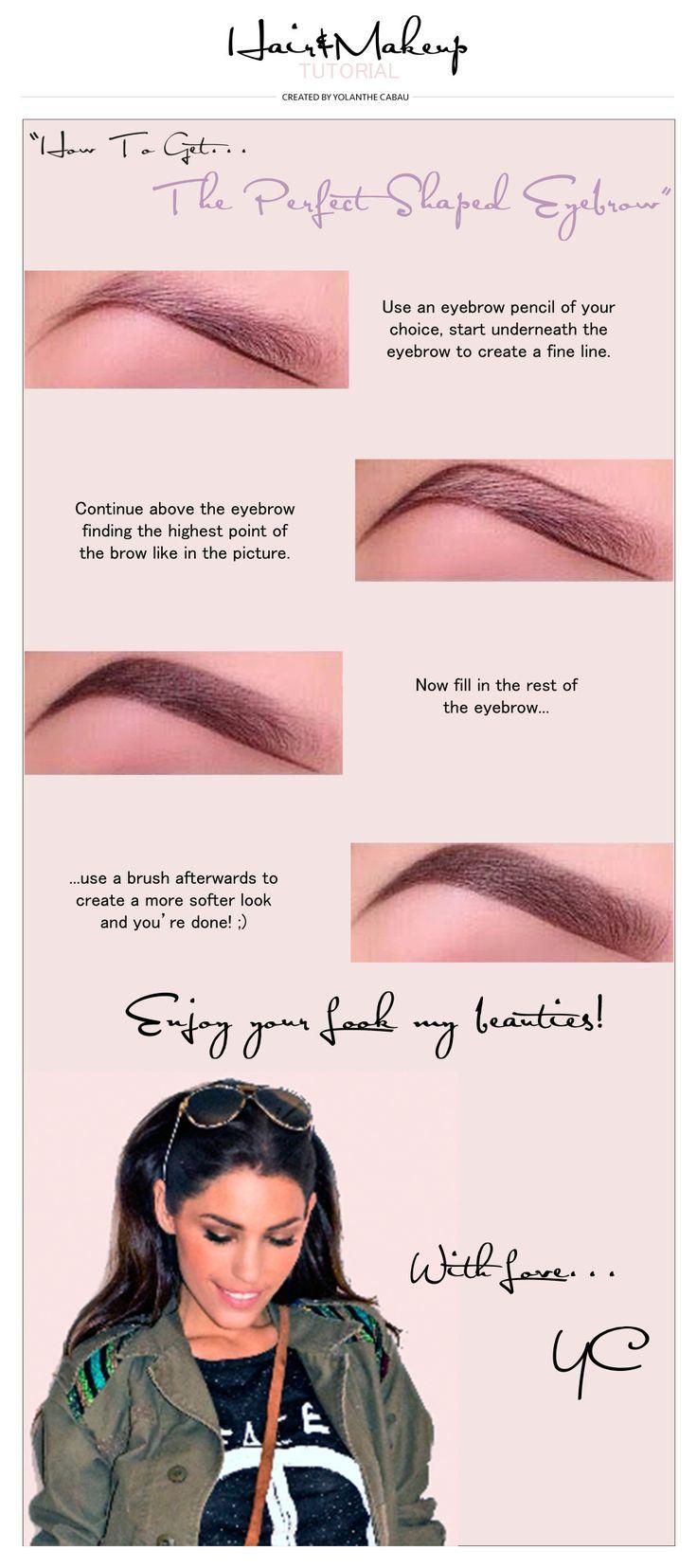 Perfect Shaped Eyebrow » Yolanthe Cabau