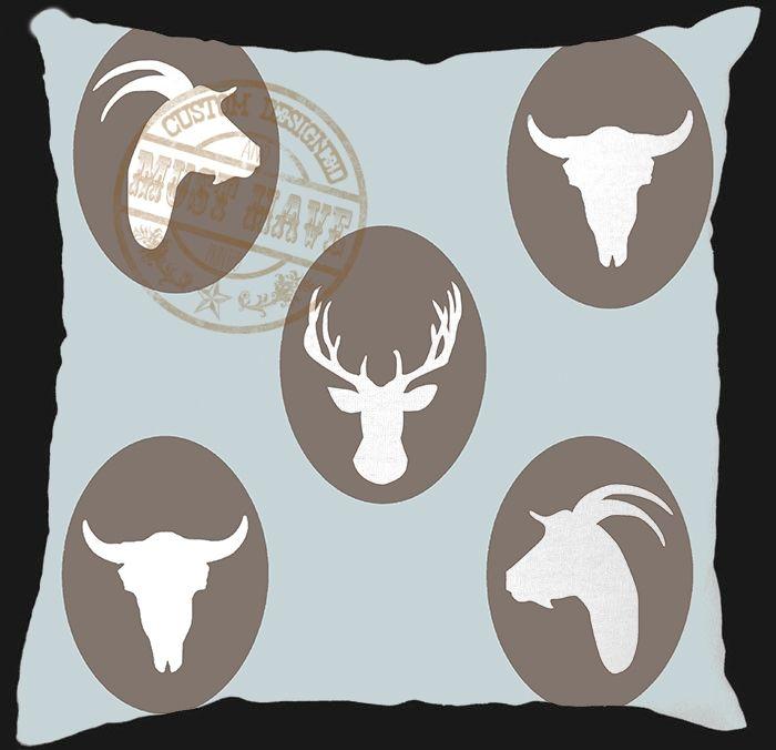 Must Have Custom Designed Decor, Scatter Cushion, designed to your taste colour and theme, buck design; bok kop reeks; afrikaans