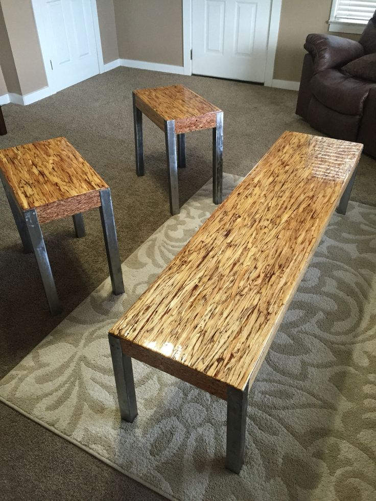 Parallam PSL tables w/ liquid glass top coat.