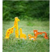 Wooden Mommy-and-Baby Push Toys