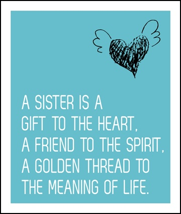 Sisters, I will always consider you a sister mine. I promised you that and I hold true to my word. I miss you everyday and miss hearing your voice, talking to you and most of all hugging and kissing on you even though you acted like you hated it lol. Much love you way, to infinity and beyond sister ❤❤