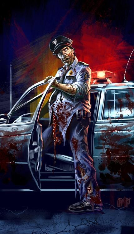 #ZombieCop #TWD #funny #morning & his car ran out of windshield fluid so the…