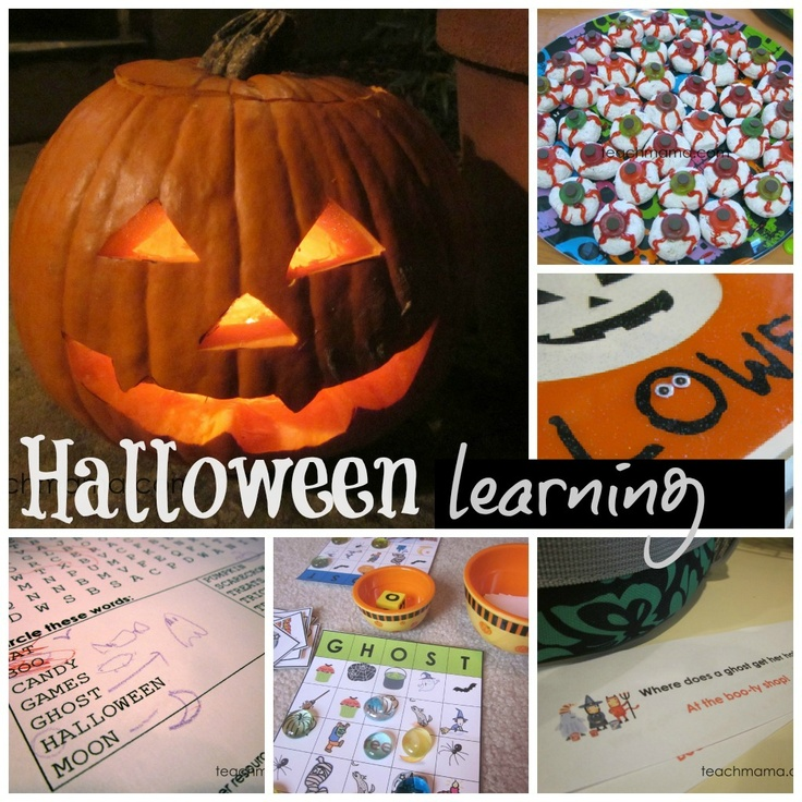 halloween learning ideas silly and scary literacy math and science fun with - Scary Halloween Crafts