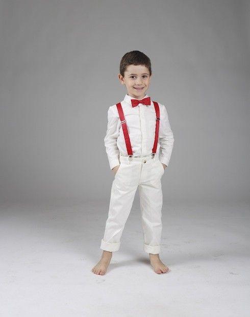 Costume blanc mariage noeud papillon - Noeud papillon rouge enfant ...