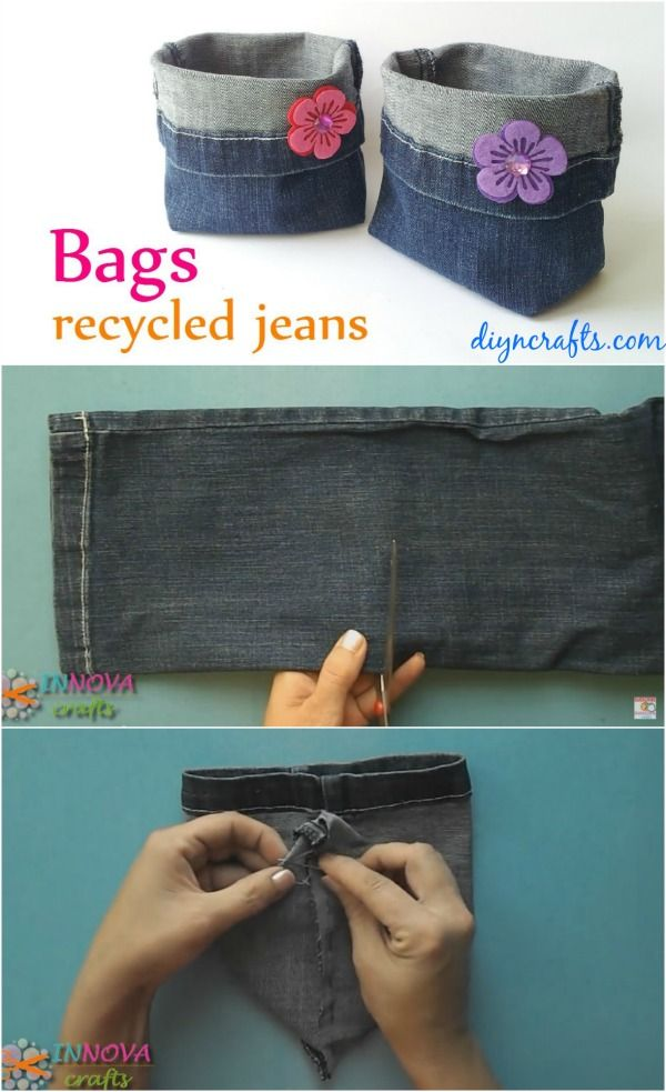 How to Make Adorable Bags from Repurposed Jeans