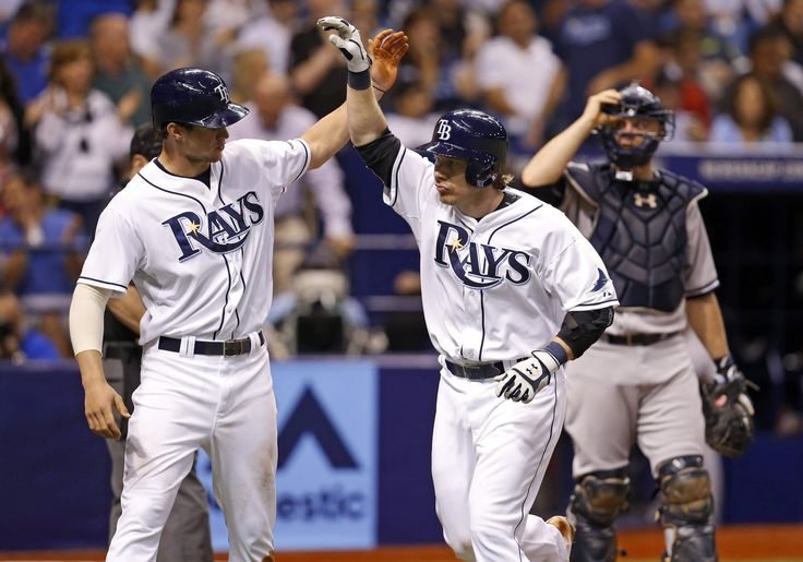 Yanks wither under Rays bats in 16-1 rout. Ryan Hanigan,Evan Longoria, Wil Myers hit HRs & Chris Archer pitches (outstandingly!) into the 7th inning. 16 runs in 1 game is a new season high for the Rays. CJ Riefenhauser called up earlier in the day replaced Archer in the 7th making his major league debut. (4-19-14)