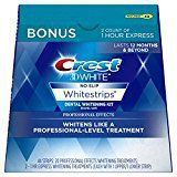 #4: Crest 3D White Professional Effects Whitestrips Dental Teeth Whitening Strips Kit 20 Treatments  BONUS 1 Hour Express Whitening Strips 2 Treatments  (PACKAGING MAY VARY)
