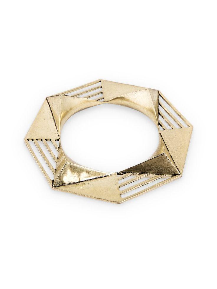 Geometric Bangle by Kate Hewko