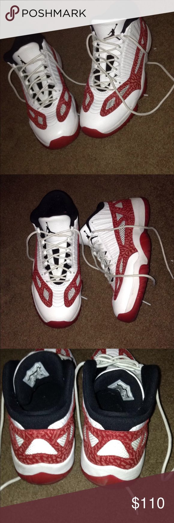 Retro 11 low Jordan's Retro 11 lows  Worn slightly  Size 9.5  Will include SnapBack for additional 25$ Jordan Shoes Sneakers