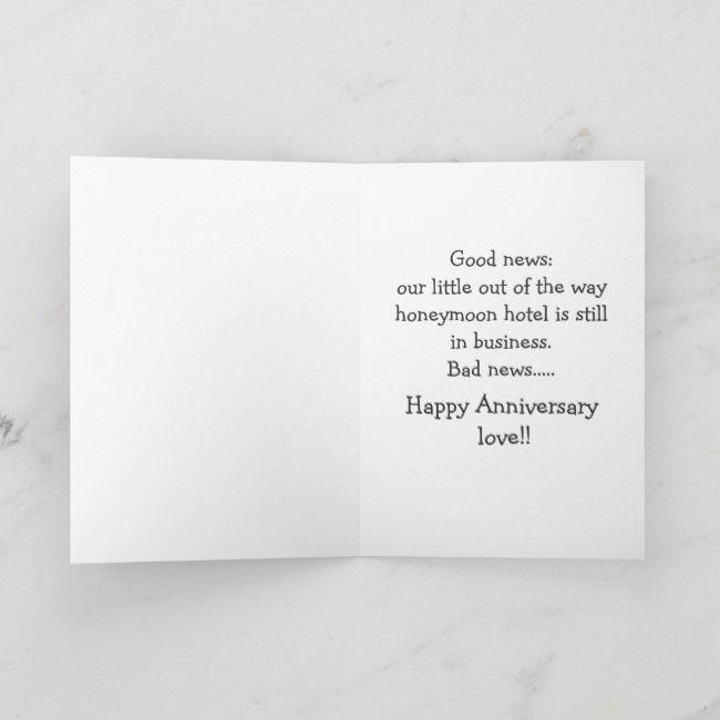 Funny Wedding Anniversay Greeting Card Zazzle Com Funny Wedding Anniversary Cards Funny Anniversary Cards Anniversary Cards For Wife