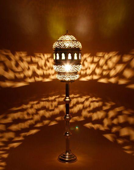 Silver Moroccan Floor Standing Lamp – 150 x 30cm