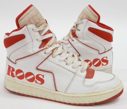 timeless design 215d3 67c4b Kangaroos Drexler Basket High Top - he must have shared the same agent as  Hak…  Ugly basketball shoes of the 80s thru mid 90s (what were we  thinking) in ...