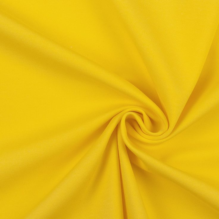 Cyber Yellow Stretch Ponte Knit Fabric By The Yard Mood