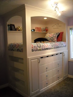bed with storage below - I want this!!