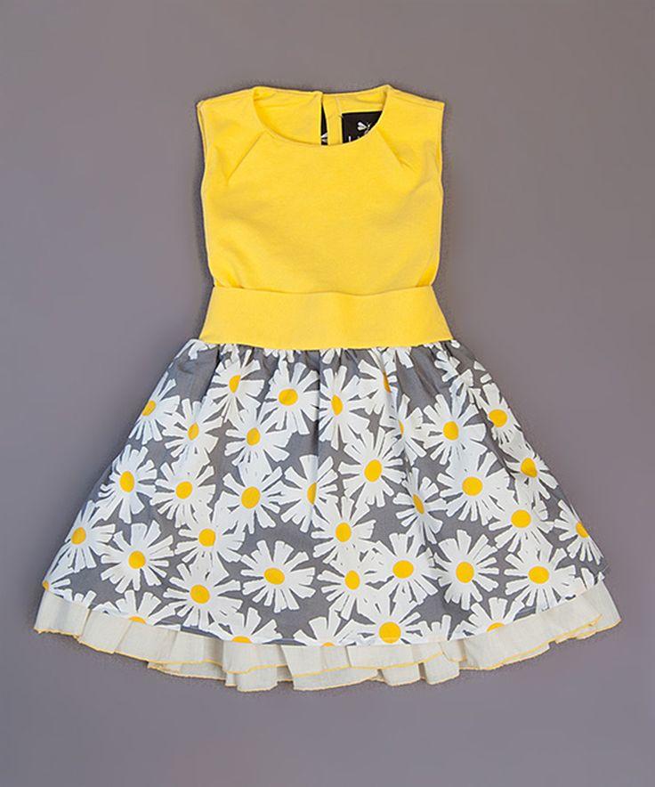 Another great find on #zulily! Yellow Veronica Ramblas Dress - Toddler & Girls by Llum #zulilyfinds