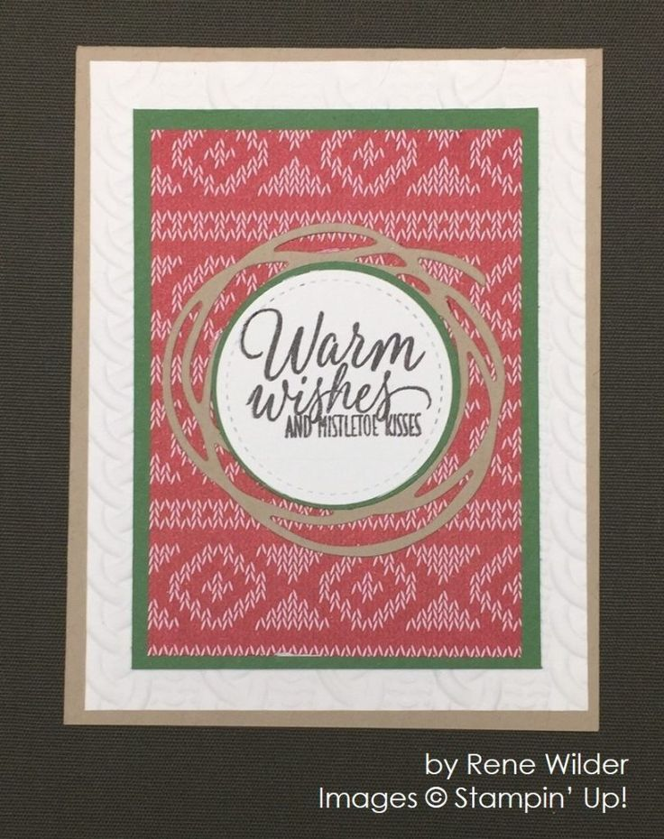 by Rene Wilder, Stampin' Up!, Christmas cards