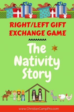 RIGHT/LEFT Gift Exchange Game \u2013 The Nativity Story Christmas