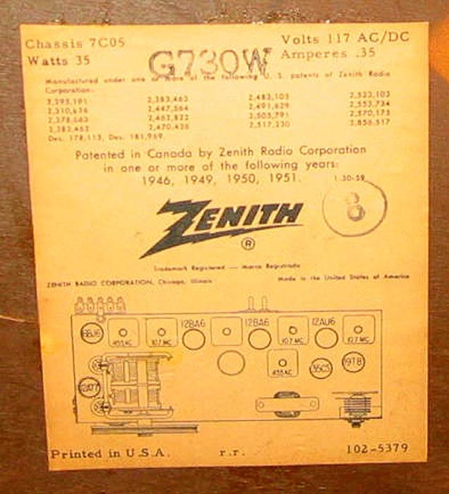 Finally snagged a Zenith tube radio - Videokarma.org TV - Video - Vintage Television & Radio Forums