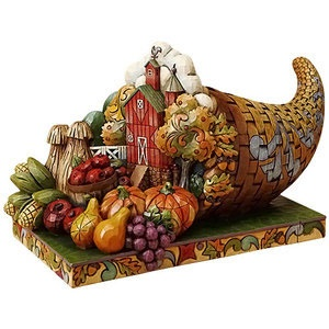 This 3D Jim Shore Diorama comes with a harvest complete with hay stacks, corn, and a barn!