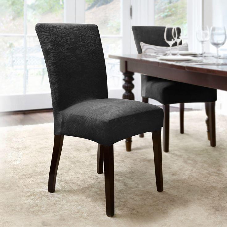 Dahlia Damask Dining Chair Slipcover