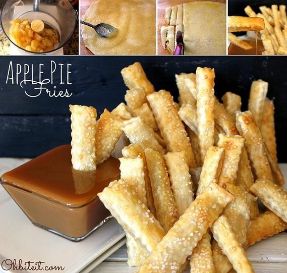 Apple Pie Fries Recipe - OMG! YUMMO! Nom nom nom! http://diycozyhome.com/apple-pie-fries-recipe/