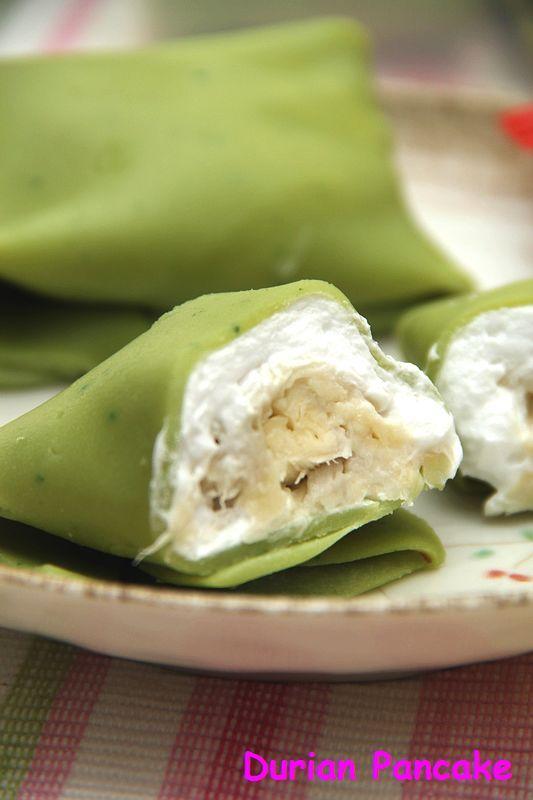 蓝色小厨: 又爱又恨的~~~Durian Pancake + 大阪烧之候补版