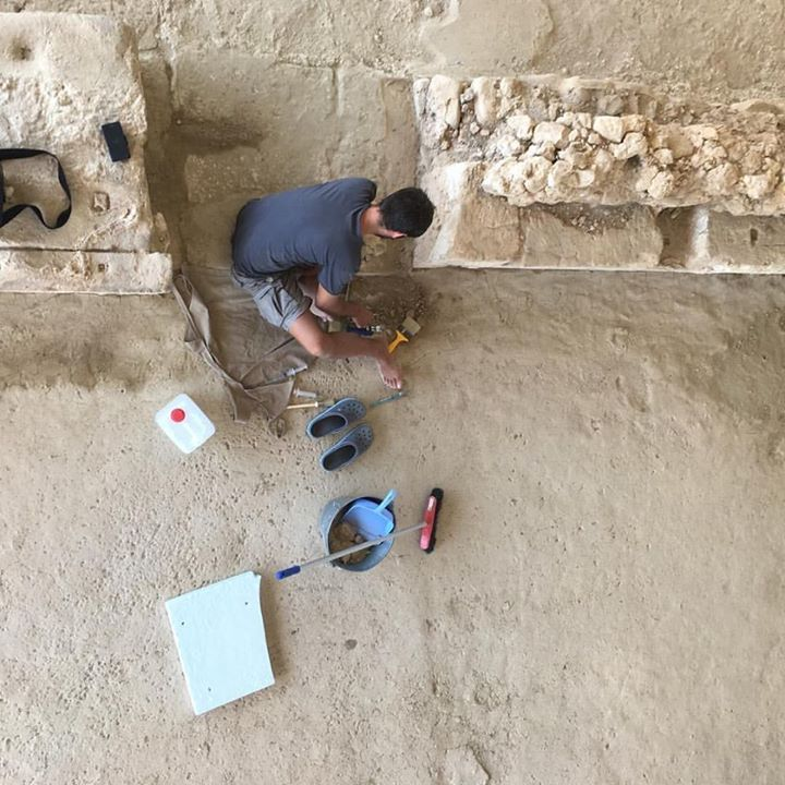 An archaeologist at work  sifting through the fine dust  of Mycenaen history at   Nestors Palace in Chora in  the southwestern  Peloponnese.   #nestorspalace #history #archaeology #peloponnese #ancient #ancientgreece #travel #greece #old #vsco #iphone #instagreece #instatravel #old #greekhistory #handofgreece