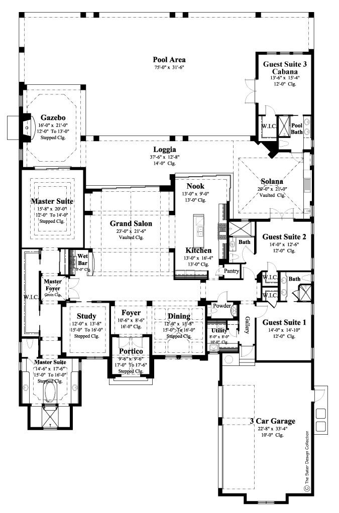 47 best Florida Style Home Plans The Sater Design Collection – Luxury Estate Home Floor Plans