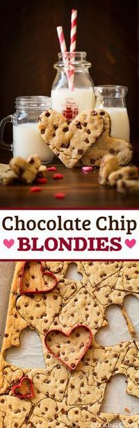 Chocolate Chip Blondies - Perfection! Love that they're thinner for cutting into shapes or just to eat smaller portions.