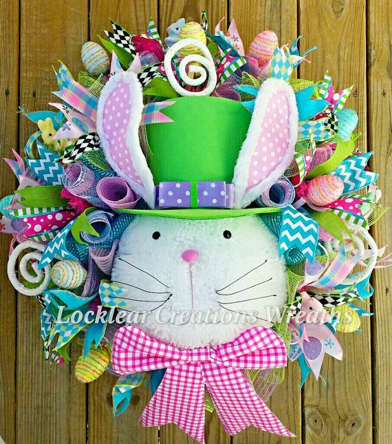 Hey, I found this really awesome Etsy listing at https://www.etsy.com/listing/265642915/whimsical-easter-deco-mesh-wreath-easter