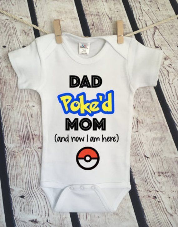 Personalized Onesie Baby Boy Onesie Baby Shower Gift Baby Girl Pokemon Onesie Baby Outfit Custom Baby Bodysuit Custom Baby Onesie