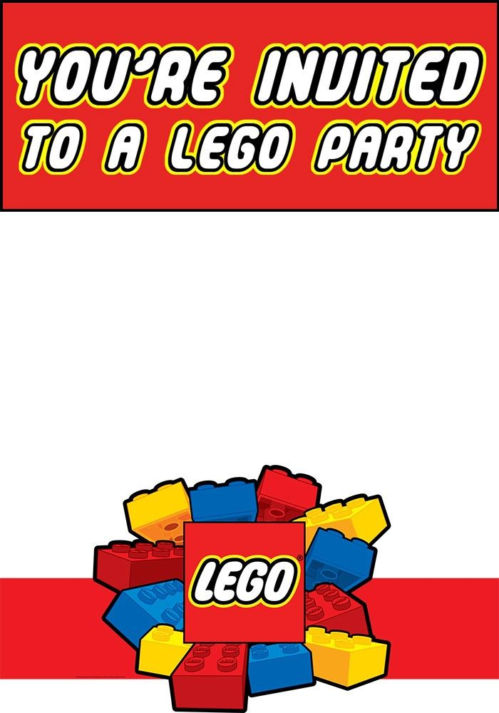 Free Printable Lego Party Invitation Template