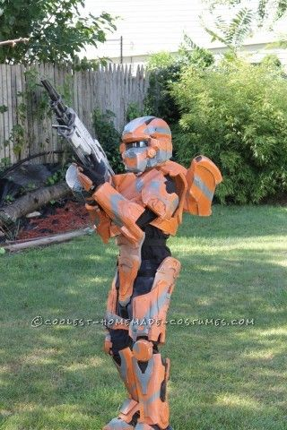 halo 4 warrior costume for 9 year old boy entirely