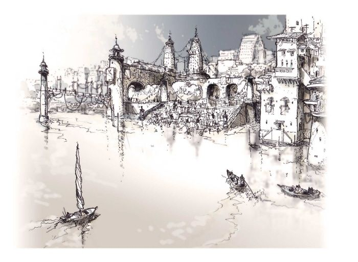 Pen and Ink Sketches - Architectural Environments by Nigel Gough at Coroflot.com