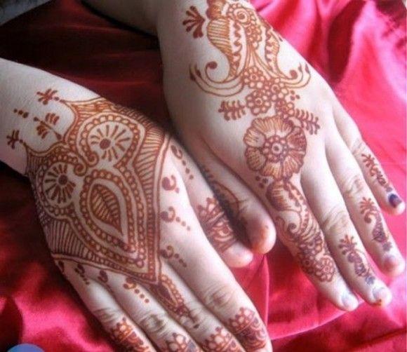 Latest Beautiful Eid Hand Mehndi Designs 2013 For Ladies