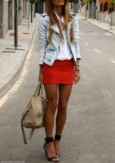 Red and White Lovely Style