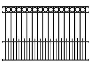 Sonoma Wrought Iron Fence Panel 4 Rail - Sonoma Deluxe Fence Panel ...