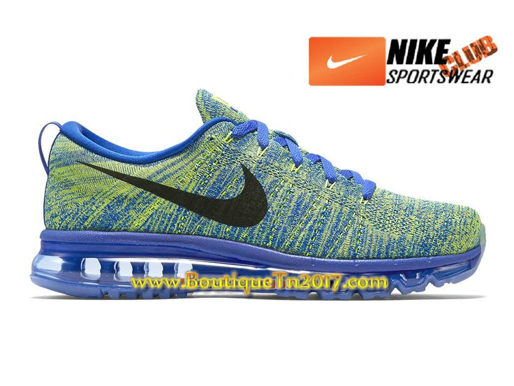 nike flyknit air max chaussures nike running pas cher pour homme vert bleu